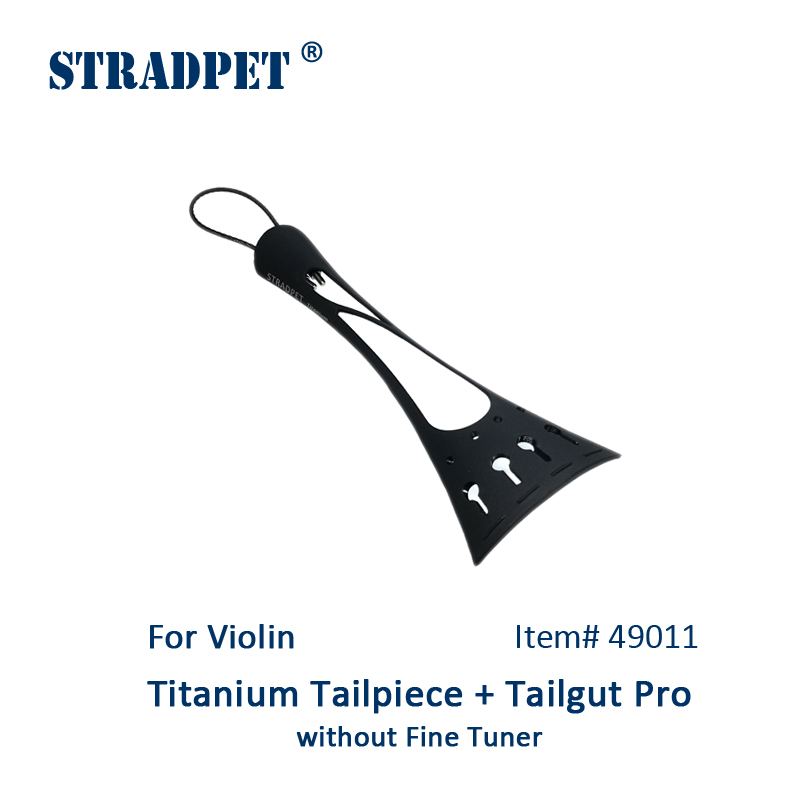 New STRADPET Titanium Tailpiece Set for violin with Titanium tailgut Pro Options 3 kinds of titanium