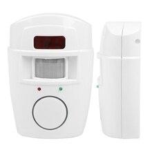 цена на Wireless Control PIR Motion Sensor Detector Security Alarm System + Remote Controls for Home Garage New Arrival