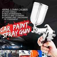 400ML 1.5 millimetri Professionale di Alimentazione Spray onu G Spruzzatore di Vernice Airbrush Set Ugello In Acciaio Inox Auto Auto di trasporto libero Per La riparazione in loco