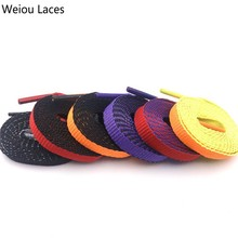 (30Pairs/Lot) Weiou Single Layer Bicolor Reversible Shoelaces High Quality Sports Casual Shoe Laces Shoestrings For Sports Boots