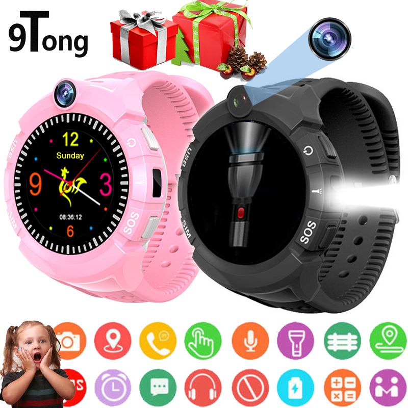 9Tong New Smart Watch Kids GPS Smart Baby Watch Smartwatch for Children with Camera Flashlight Touch Screen Call Remote Monitor