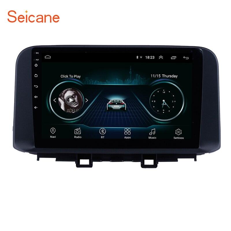 Seicane Android 8,1 HD сенсорный экран автомобильный мультимедийный плеер gps для 2018 2019 hyundai ENCINO Kona с поддержкой Bluetooth Carplay