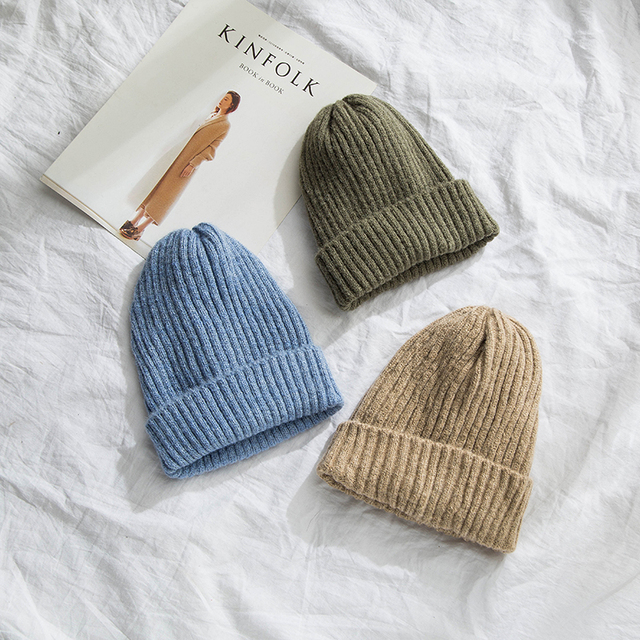 0b8f9889b81 Candy Color Men Fashion Winter Beanies Hats for Women Warm Skullies Hats  For Women Hip Hop
