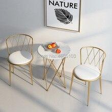 Новинка, Золотая мебель для дома в Юго-Восточной Азии, железная столовая мебель в скандинавском стиле, стулья, современная мебель для гостиной, роскошные стулья