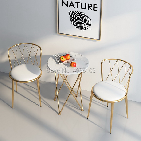 2019 New Southeast Asia gold house furniture Iron dining nordic furniture chairs modern living room furniture luxury Chairs