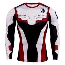 Avengers Endgame Quantum Realm Battle Suit Costume T-shirt Tee Top running Tracksuit Tops 4 Movie T Shirt 2019