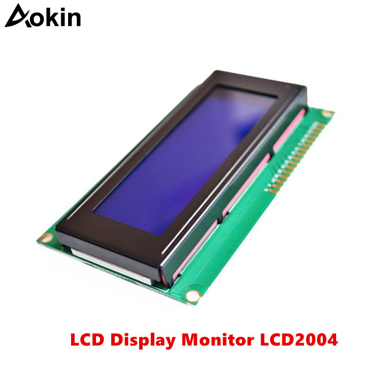 LCD Display Monitor LCD2004 2004 20X4 5V Character Blue Backlight Screen And IIC I2C For Arduino UNO MEGA R3