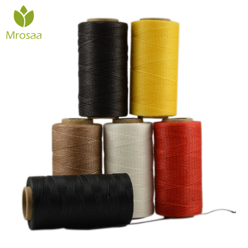15M 1MM Leather Sewing Waxed Thread Hand Stitching Repair Cord Craft free,needle