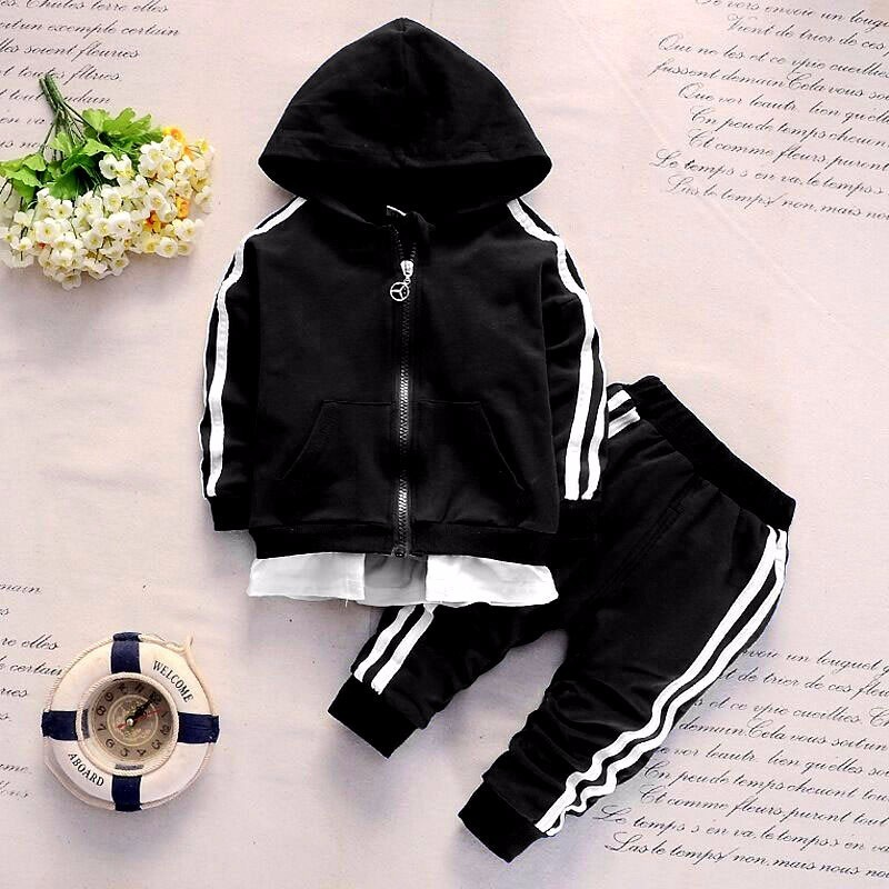 Byaxbxya 2019 Spring Baby Casual Tracksuit Cotton 2Pcs/Sets
