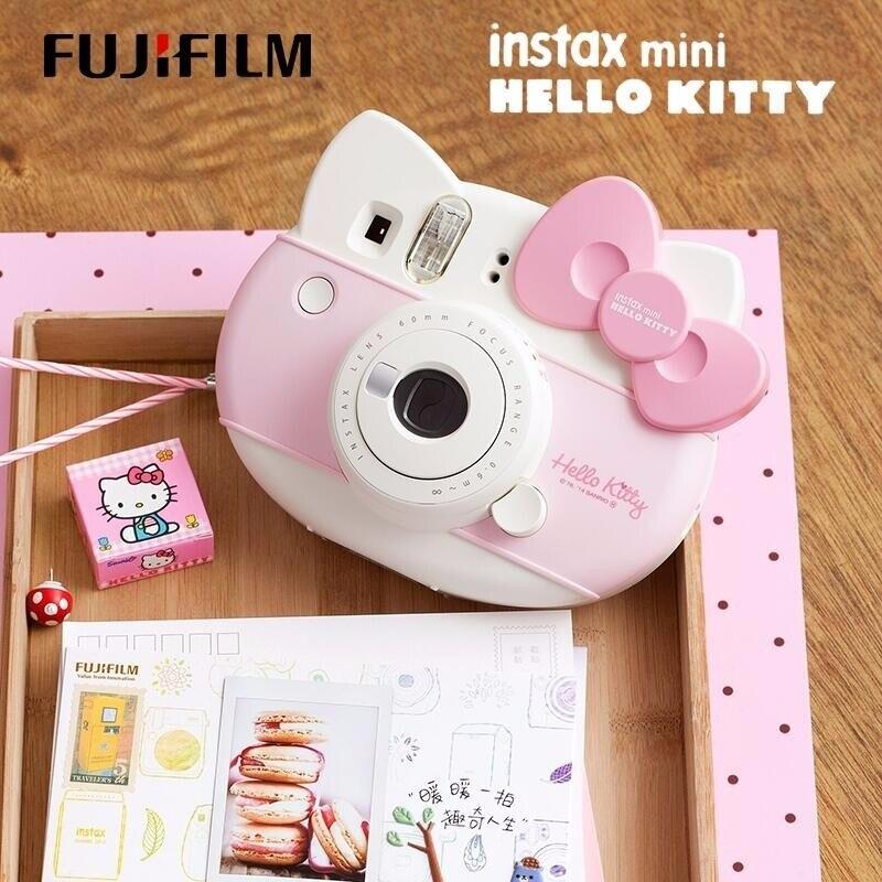 Fujifilm Instax Mini Hello Kitty caméra instantanée Fuji 40 anniversaire Film Photo papier une fois tourné avec 10 feuilles