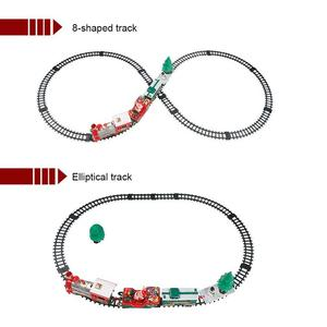 Image 4 - 22PCS Children Track Small Train Toy Electric Light Music Train Simulation Classic Power Train Set new year Holiday Gift for kid