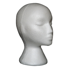 Female Styrofoam Mannequin Manikin Head Model Foam Wig Hair Glasses Display Stand White