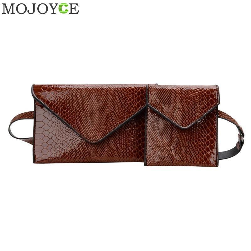 2 PCS/Set New Fashion Crocodile Shoulder Waist Bag Women Waist Fanny Packs Chest Belt Bag Luxury Brand Leather Chest Handbag