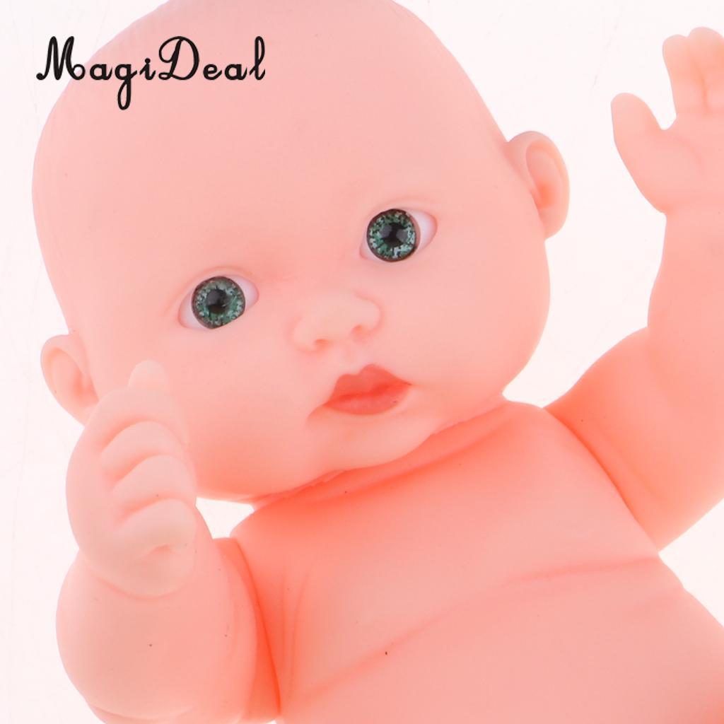 Vinyl Baby Doll Lifelike Newborn Boy Doll Simulation Soft Baby Doll 11cm