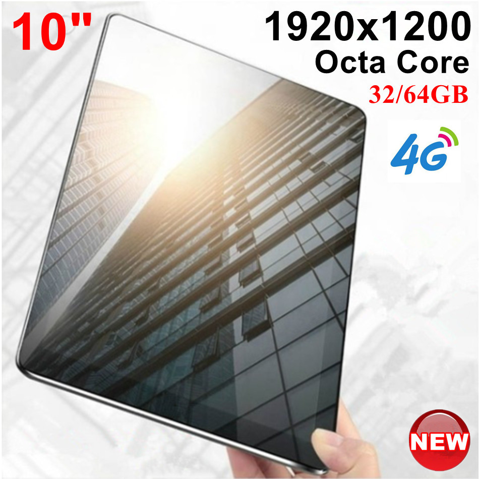 KUHENGAO Updated!!!Octa Core 10 Inch Card Tablet Pc 4G LTE Call Phone Mobile 4G The Android Tablet Pc 32/64GB IPS 1920*1200