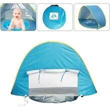 Детская Пляжная Палатка УФ-защита Sunshelter детские игрушки маленький дом водостойкий Pop Up Тент Палатка портативный мяч бассейн детские палатки