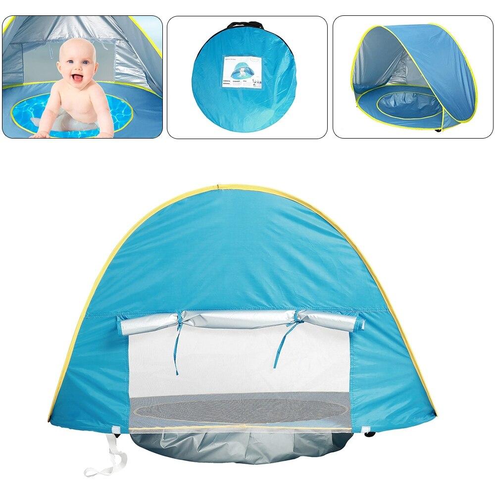 Baby Strand Zelt Uv-schutz Sunshelter Kinder Spielzeug Kleine Haus Wasserdichte Pop Up Markise Zelt Tragbare Ball Pool Kinder zelte