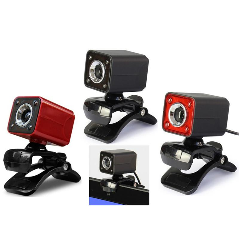 USB 2.0 480P 12M Pixel 4 LED HD Webcam <font><b>Web</b></font> <font><b>Cam</b></font> Camera MIC for PC image