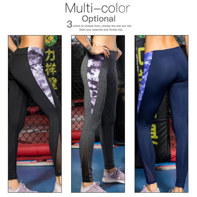 Gym / Yoga Pant With Pocket Tights Print Seamless  High Waist