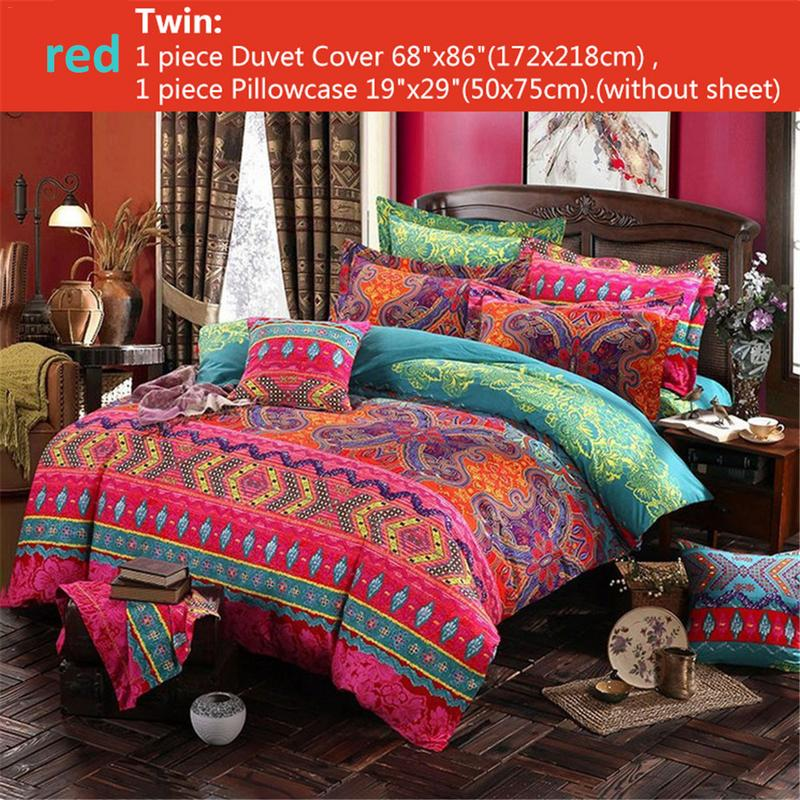 Bohemian Ethnic Style Bedding Set Twin Full Queen King 4 Size Duvet Cover Pillowcase Set Bedclothes Bedding Sets