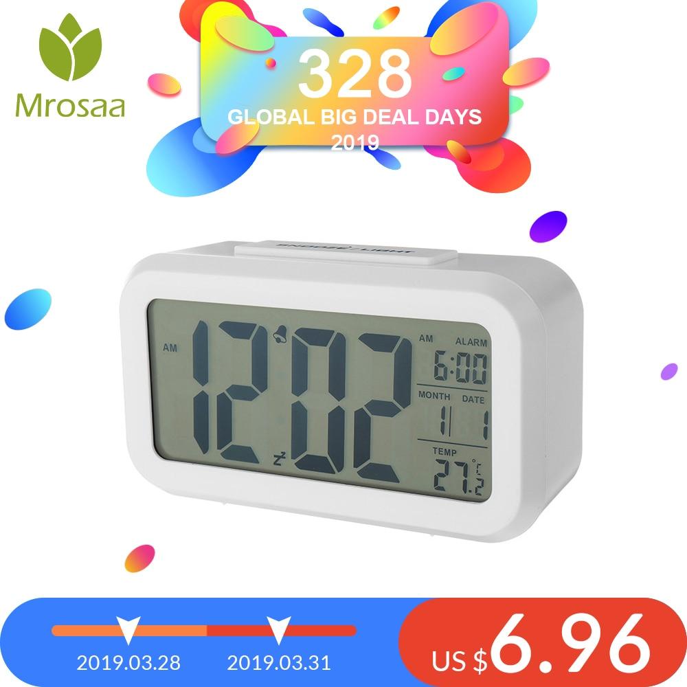 Hot sale Large LED Digital Alarm Clock Backlight Snooze Mute Calendar  Desktop Electronic Bcaklight Table clocks Desktop clock