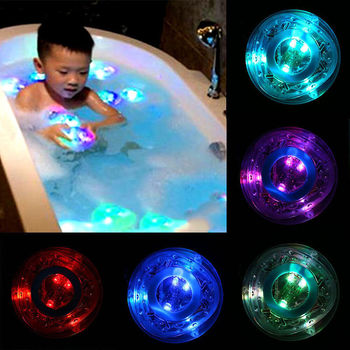 1Pcs Party in the Tub Bath Time Baby Kids Shower Fun Color Changing LED Light Toys Bathroom Accessories