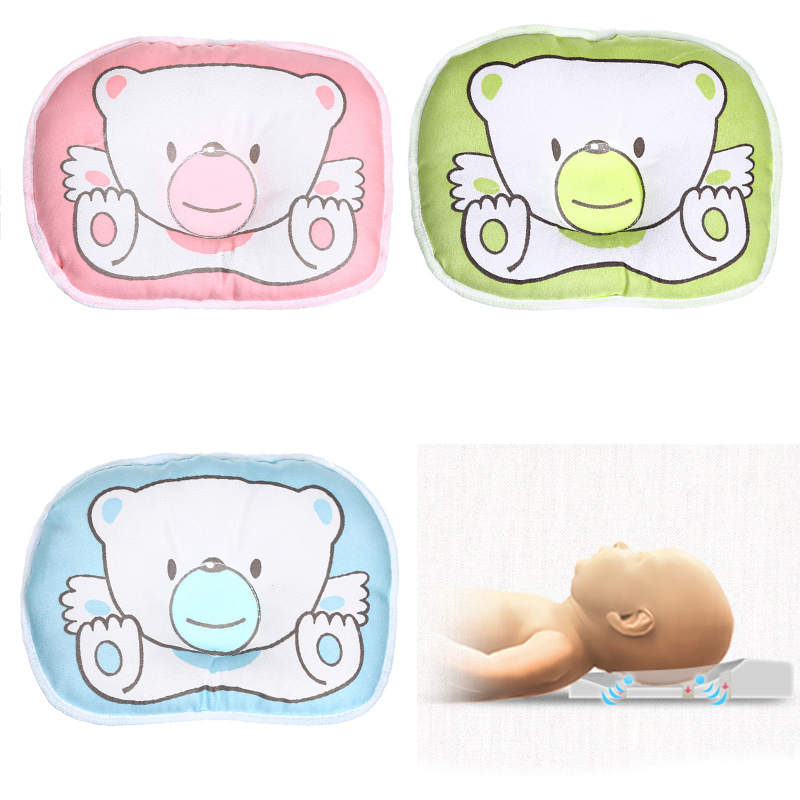 Infant Bear Pattern Pillow Newborn Baby Support Cushion Pad Prevent Flat Head Shaping Pillow Correct Sleeping Posture BTZ1