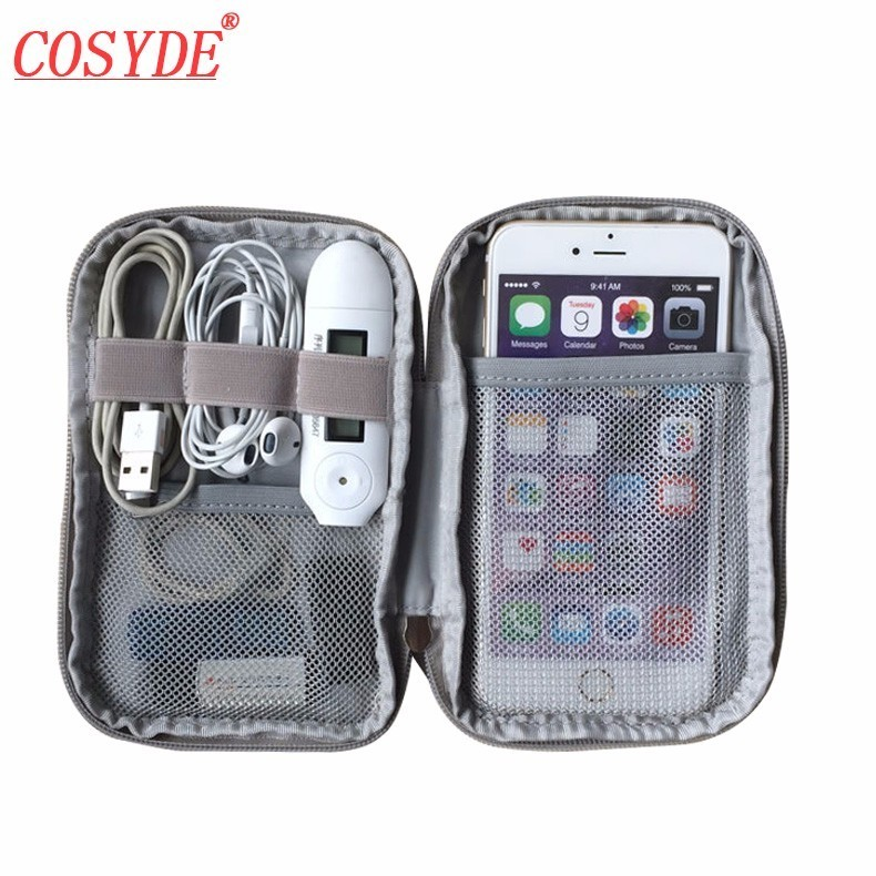 Oxford Fabric Digital Package Data Cable Mouse Charging Mobile Data Men's Travel Necessary Storage Organizer Accessories