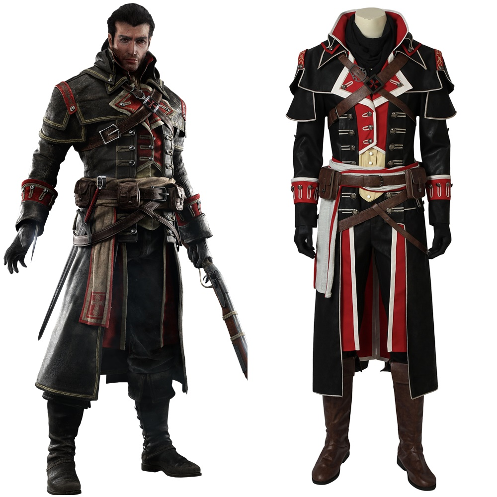 AC Rogue Shay Patrick Cormac Cosplay Costume Halloween Costume for Adults Men