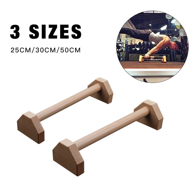 Fitness 50 cm Push-Up Stands Sport Gym Exercice Formation Poitrine H En Forme En Bois Gymnastique Atr Parallèle Bar Double Tige