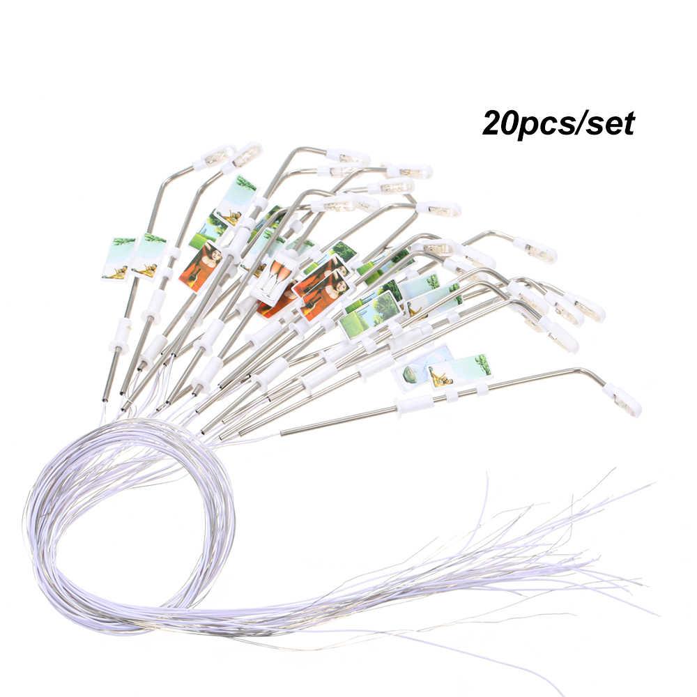 20 sztuk/zestaw biały Model światła uliczne 3V układ latarni kolej pociąg do zabawy w ogrodzie dekoracje lampa Led oświetlenie najwyższej jakości