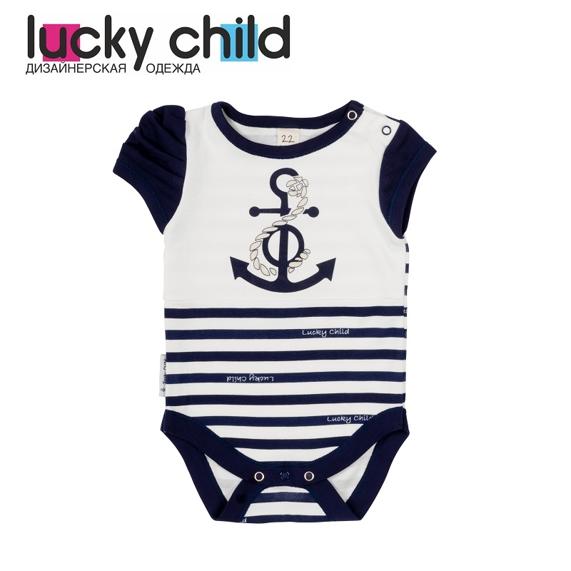 Bodysuits Lucky Child for girls 28-5D blue beach sea Newborns Babies Baby Clothing Children clothes tank tops made in russia