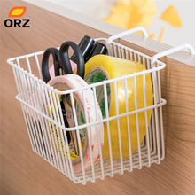 ORZ Home Office Storage Hanging Basket Metal Wire Desk Organizer Hangs Over Partition Stationary Box