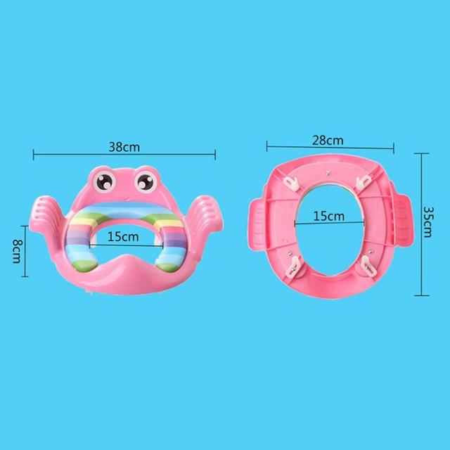 Child Potty Cartoon Baby Potty Seat Ring Girls Boys Trainers Toilet Pad with Armrests Training Armrest Safety Backrest Pink