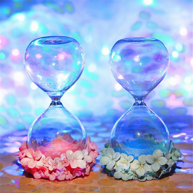 Figurines & Miniatures Home & Garden Impartial Augkun 1pc Pink Cute Sand Hourglass Girl Rose Hydrangea Hourglass Dreamy Colorized Hourglass Student Lover Gift Home Decoration