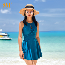 361 Women One Piece Swimsuit Sexy Swimwear Push Up Backless Solid Skirt Swimming Suits Pool Plus Size Bathing