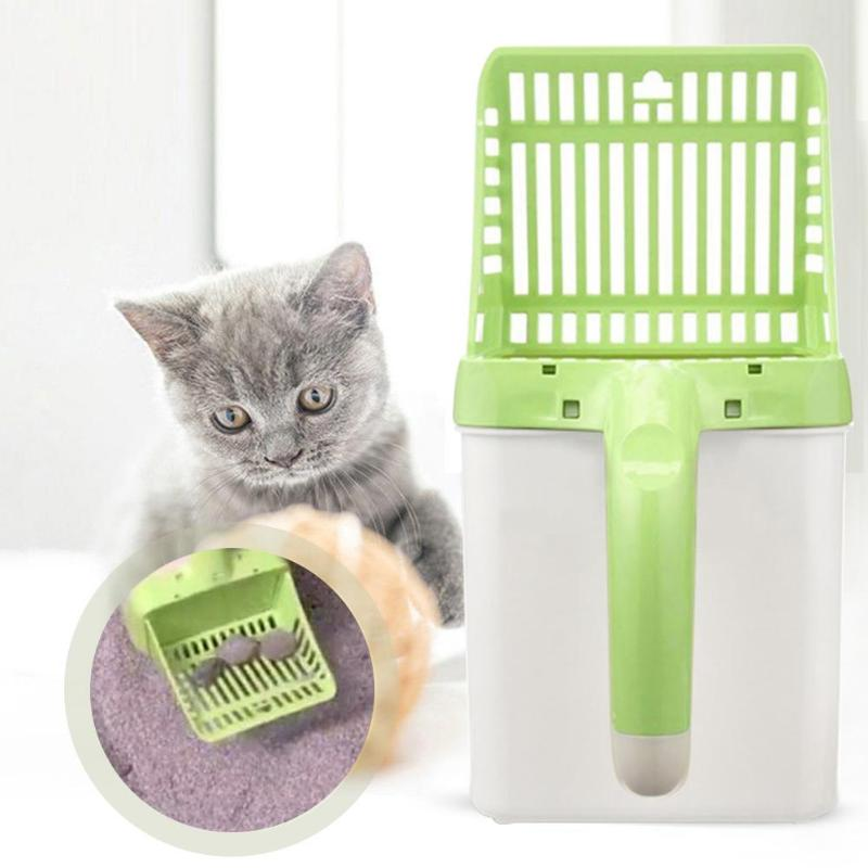 Cat Litter Shovel Sifter Hollow 15pcs Waste Bags 2019 New Pet Sand Litter Sifter Hollow Neater Clean Scooper Pet Home cleaning