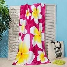 Полотенце пляжное Этель 70*140 см, Цветы на розовом, микрофибра 250гр/м2   3936315