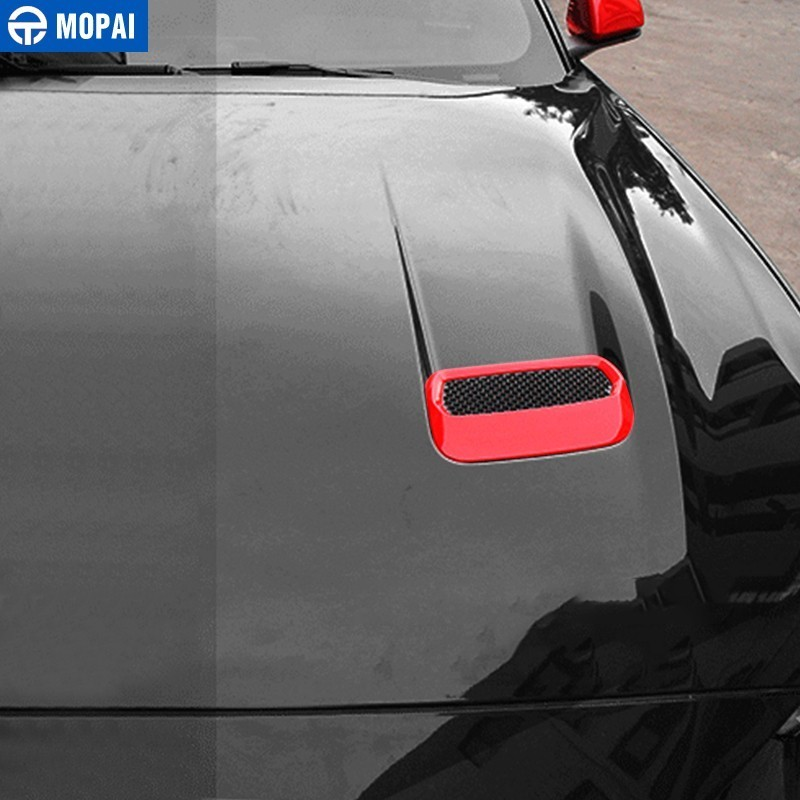 Image 2 - MOPAI Car Stickers for Ford Mustang 2018+ Carbon fiber Hood Engine Cover Air Outlet Decoration for Ford Mustang Car Accessories-in Car Stickers from Automobiles & Motorcycles