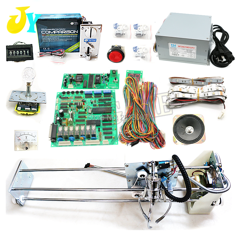 DIY Toy Crane Machine kit Crane machine kit with crane game PCB coin acceptor buttons harness