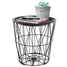 Bijzettafel Mand Zwart.Online Get Cheap Metal Wire Storage Baskets Aliexpress Com