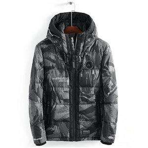 Image 3 - Streetwear kamuflaż kurtka zimowa mężczyźni z kapturem dorywczo mężczyzna płaszcz z kapturem Camo grube ciepłe męskie znosić