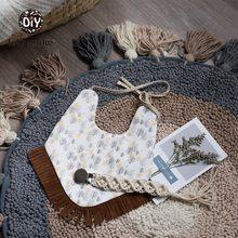 Давайте сделаем нагрудником Novetly вещи для мальчиков и девочек отрыжка ткань хлопок кисточкой шарф нагрудники мультфильм нагрудники и отрыжка одежда 1 шт