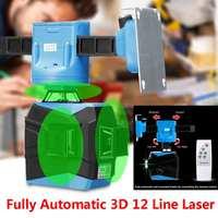 532nm 12 линий 3D 360 40 м зеленый лазерный уровень наливные измерения АВТО управление крепление Дистанционное полностью автоматический держател