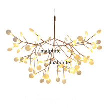 LED Chandelier Luxury Tree Leaf Modern Hanging Lamps De Dining Room Bedroom Home Decoration Creative Art Design Indoor Lighting