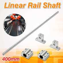 8mm Dia Lead Rod 400mm Cylinder Linear Rail Shaft Support & Slide Block Linear Guides(China)