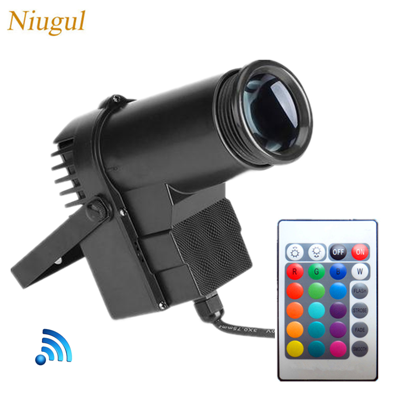 Wireless Remote Control LED Beam Pinspot Light RGB 10W Stage Lights Spotlight Track Lighting For Party Wedding Disco Mirror Ball