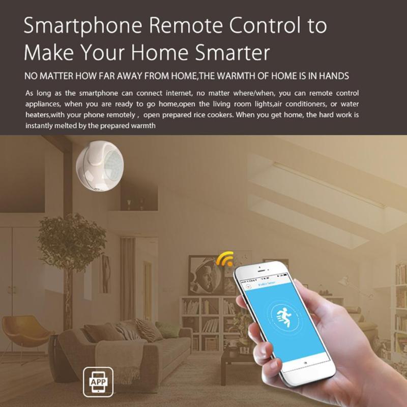 Image 2 - Умный беспроводной Wi Fi PIR датчик движения датчик сигнализации 7 м расстояние чувствительности для автоматизации умного дома Android IOS-in Сенсор и детектор from Безопасность и защита
