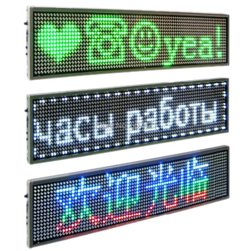P5 Multicolor USB Programmable Scrolling LED Message Sign Display LED Display Board Illuminated Signs