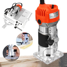 800W 30000rpm Woodworking Electric Trimmer Wood Milling Engraving Slotting Trimming Machine Hand Carving Router